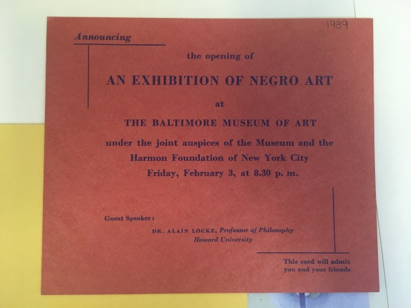 Photo by author, courtesy of the Archives of the Baltimore Museum of Art.