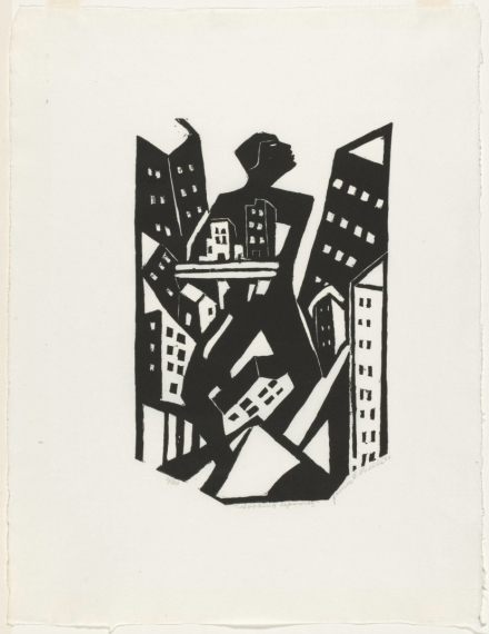 James Lesesne Wells. Looking Upward. 1928, printed later. The Baltimore Museum of Art: Gift of Ruth and Jacob Kainen, Chevy Chase, Maryland, BMA 1992.151. Photo courtesy of the Baltimore Museum of Art.